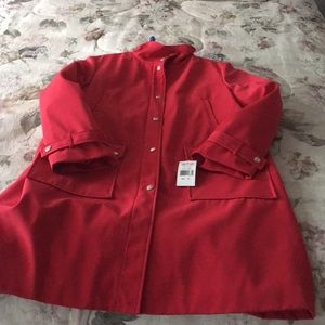 Ladies red coat New in Perfect condition 😊